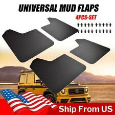 4PCS Mud Flaps Universal Splash Guards Front+Rear Set Includes Hardware