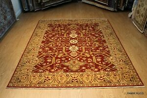 Fine Quality Handmade Vegetable Dyed, 8' x 10' Rust Color SERAPY DESIGN