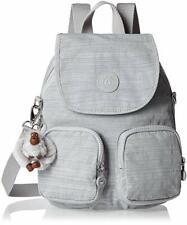 Kipling Women's Firefly Up Backpack Dazz Grey NEW FREE UK POSTAGE