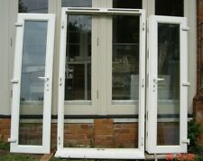 Reclaimed pair white UPVC French doors ~ frame & sill double glazed  ~ Essex