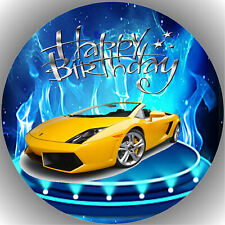 Fondant Tortenaufleger Tortenbild Lamborghini N3