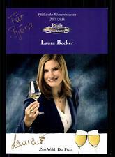 Laura Becker Autogrammkarte Original Signiert Weinprinzessin # BC 72158