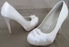 NEXT OCCASION SIZE 6 39 WOMENS SATIN IVORY WEDDING COURT SHOES HEELS PLATFORMS