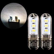2pcs Mini USB 3 LED Bright Night Light Gadgets for Car PC Laptop Reading Lamp