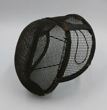 Antique Early Century Steel Mesh Fencing / Dueling Mask Helmet Face Protection