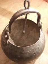 VERY OLD AFRICAN HAND HAMMERED IRON COOK POT