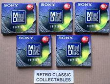 5 X Sony Premium 74 minidiscs - NEW / SEALED
