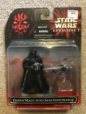 STAR WARS PHANTOM MENACE DARTH MAUL WITH SITH INFILTRATOR (Hasbro, 1999) NEW
