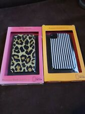 2 NEW KATE SPADE IPHONE 4 CASES CHEETAH STRIPES PREMIUM HARD STYLISH FREESHIPPIN