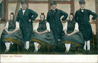 Ansichtskarte Gruß aus Hessen 1906 (Nr.956) Volkstracht -I
