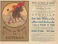 Folleto de mano. Plaza de toros de Sevilla. Año 1929.