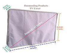 Weather Resistant Lined Protective Outdoor TV Cover For Sharp LC-60LE660U Gray