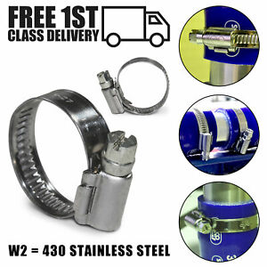 Jubilee Worm Drive Clamps 430 Stainless Steel Silicone Hose Fuel Pipe Clips