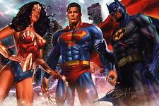Greg Horn SIGNED JLA Justice League Art Print ~ Superman Batman Wonder Woman