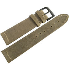20mm ColaReb Venezia Swamp Brown Leather PVD Buckle Italian Watch Band Strap