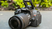 EXCELLENT Canon EOS Rebel T5i / EOS 700D 18.0 MP Digital SLR 18-55mm (3 Lenses)