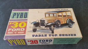rare vintage pyro 30 model a ford woody car model box only!
