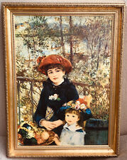 PIERRE-AUGUSTE RENOIR? ARTIST OIL PAINTING 2 Sisters ON CANVAS FRAMED