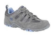 Ladies Womens Hi Tec Leather Suede Hiking Walking Trail Lace Up Shoes Size 4-8