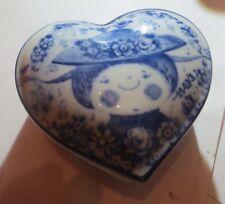 Boite à bijoux en forme de cœur en porcelaine » Maki Miyoshi Original »