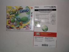 Yoshi's New Island (Nintendo 3DS, 2014) COMPLETE w/ Electronic Manual Guide