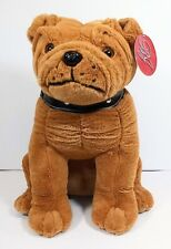 "New listing Vintage Bj Toys Bulldog with Studded Collar Puppy Dog Plush 15"" tall Nwt"