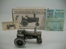 Spec Cast John Deere Pewter 730 Tractor JDM-006 - Original Packaging and Papers