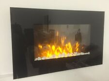 2018 7 COLOUR LED TRUFLAME FLAT WALL MOUNTED ELECTRIC FIRE AND 7COLOUR SIDE LEDS