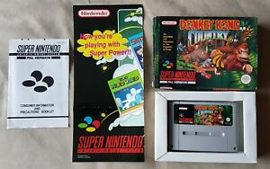 Super Nintendo SNES Game - Donkey Kong Country - Boxed with Poster