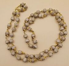 CHAIN TULSI BEAD BRACELET GOLD CHAIN Tulsi ~Basil Rosary Used In Medical