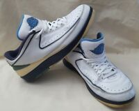 Rare 2004 Men's Air Jordan 2 Low Top White & Blue Sneakers Size 11.5  309837 141