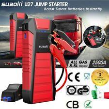 SUAOKI U27 2500A/25000mAh DEMARREUR D'URGENCE AUTO Jump Starter Booster USB SOS