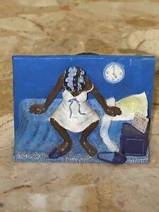 "Sass 'n Class Annie Lee 1997 Sandy Dolls, Inc. BLUE MONDAY Magnet 2.75x1.75"""
