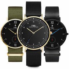 Orologio uomo/donna TWIG Time Collection orologi pelle maglia milanese nylon