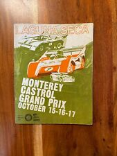 1971 Monterey Castrol Grand Prix Laguna Seca Official Program