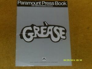 GREASE Movie '78 PARAMOUNT PRESS BOOK w/pix, articles, promo info 6 pp. VG shape