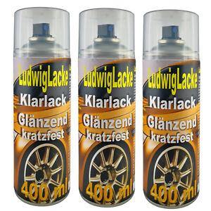 Klarlack 3 Spraydosen Lackspray Autolack Ludwiglacke Lack glänzend Rostschuitz