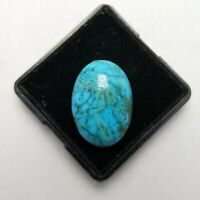 Natural Cabochon Kingman turquoise Arizona 13.80 Ct Top Loose Gemstone Ring Size