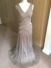 BNWT No.1 Jenny Packham Electra Sequin /bead embellished Maxi Dress size 10-£250