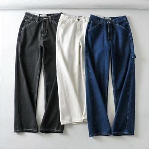 Womens Loose Wide Leg Pants Baggy Denim Fashion Cargo Trousers High Waist Girls