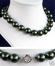 "12mm South Sea Black Shell Pearl Necklace 18"" AAA++S+A+SD"
