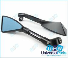 High Quality Motorcycle Wing Rear View Vision Mirrors CNC Alloy Blue Tint Glass