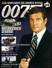 FASCICULE BOOKLET JAMES BOND 007 MERCEDES 250SE N°24