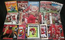 1960's to 2000's Wisconsin Badger Football Programs Collection NCAA