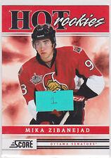 2011 11-12 Score #552 Mika Zibanejad HR SP RC Rookie Short Print Hot Rookies