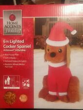 HOME ACCENTS AIRBLOWN 6FT CHRISTMAS INFLATABLE COCKER SPANIEL FUZZY HAIR LIGHTED