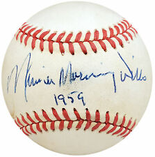 Maury Wills Autographed Signed NL Baseball Dodgers Full Name Beckett S99777