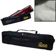 Paititi Brand New C Flute Hard Case Cover w Side Pocket/Handle/Strap Black Color