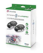 Interphone Urban Motorcycle Helmet Bluetooth Universal Intercom System - Twin