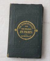 1876, The Diamond Guide for the Stranger in Paris, 8th Ed, Hachette, RARE ILLUST